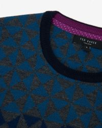 Ted Baker - Blue Ombré Pattern Wool Jumper for Men - Lyst
