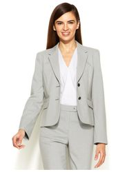 Calvin Klein - White Two-Button Houndstooth Jacket - Lyst
