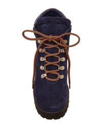 Pollini - Blue High Heeled Lace Up Boot - Lyst