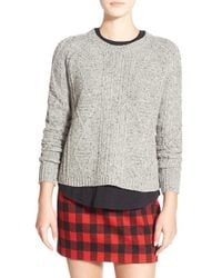 Madewell | Gray 'palisade' Back Zip Sweater | Lyst