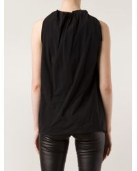Rick Owens - Black Gathered Detail Top - Lyst