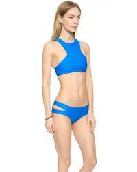 Mikoh Swimwear | Blue Barbados Bikini Top - Electric Eel | Lyst