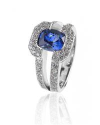De Grace | Metallic Blue Sapphire Saturne Ring | Lyst