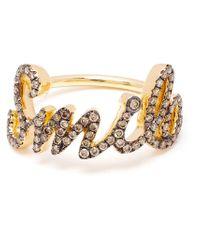 Rosa De La Cruz - Metallic Smile Diamond Ring - Lyst
