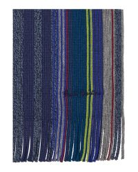 Paul Smith | Blue Striped Scarf for Men | Lyst