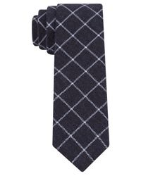 Calvin Klein | Blue Modern Windowpane Skinny Tie for Men | Lyst