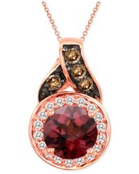 Le Vian | Red Raspberry Rhodolite Garnet (1 Ct. T.w.) And Diamond Accent Pendant Necklace In 14k Rose Gold | Lyst