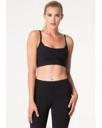 Bebe | Black Cage Detail Sports Bra | Lyst