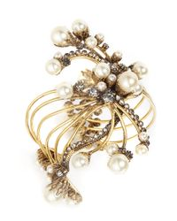 Erickson Beamon | Metallic 'stratosphere' Multi Pearl Crystal Cuff | Lyst