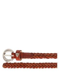 HTC Hollywood Trading Company | Brown Woven Leather Belt for Men | Lyst