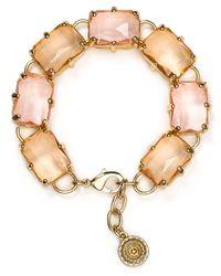 Aqua - Natural Dottie Rectangular Stone Bracelet - Lyst