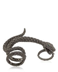 Elise Dray - Gray Diamond Studded Anaconda Ring - Lyst