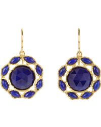 Irene Neuwirth | Blue Gemstone Floral Drop Earrings | Lyst