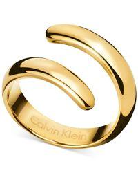 Calvin Klein | Metallic Embrace Bypass Ring | Lyst
