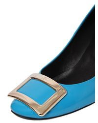 Roger Vivier | Blue 65mm Belle De Nuit Patent Leather Pumps | Lyst