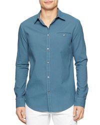 Calvin Klein Jeans | Blue Modern Fit Seersucker Mini Check Sportshirt for Men | Lyst