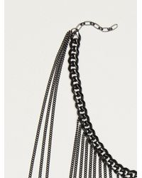 Free People | Black Dani Upper Body Chain | Lyst