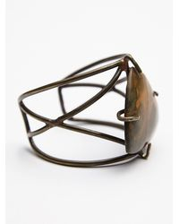 Free People | Green Womens Claw Stone Cuff | Lyst
