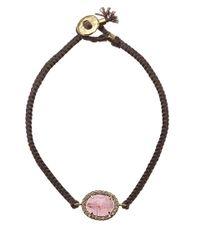 Brooke Gregson Pink Tourmaline And Diamond Silk Bracelet