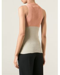 Maison Margiela - Natural Colour Block Tank Top - Lyst
