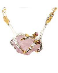 Tessa Metcalfe - Multicolor Rose Quartz Necklace With Ruby - Lyst