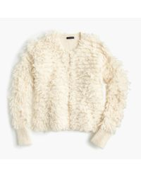 J.Crew - White Collection Bouclé Sweater-jacket - Lyst