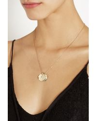 Scosha - Metallic 14-Karat Gold Diamond Charm Necklace - Lyst