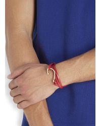 Miansai - Red Triple Wrap Leather Hook Bracelet for Men - Lyst