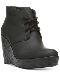 Dr. Scholls | Black Blaire Wedge Booties | Lyst
