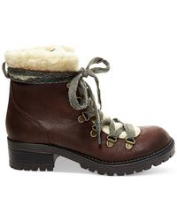 Madden Girl | Brown Bunt Cold Weather Hiker Booties | Lyst