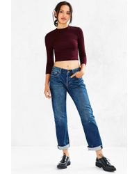 Silence + Noise - Red Renee Mock-neck Top - Lyst