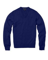 Brooks Brothers | Blue Cashmere V-neck Sweater for Men | Lyst