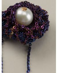 Arielle De Pinto | Purple Chained Pearl Earrings | Lyst
