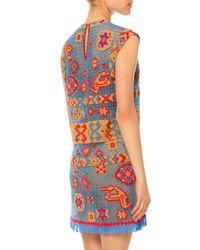 Valentino - Multicolor Southwest-print Tulle Illusion Dress - Lyst