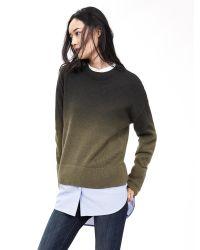 Banana Republic | Green Dip-dye Pullover | Lyst