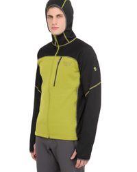 Mountain Hardwear | Green Desna Grid Hooded Fleece Jacket for Men | Lyst