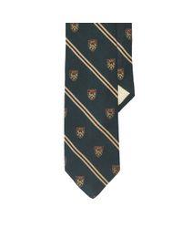 Polo Ralph Lauren - Green Wool-silk Club Narrow Tie for Men - Lyst