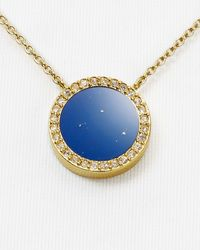 "Michael Kors - Metallic Circle Pendant Necklace, 16"" - Lyst"