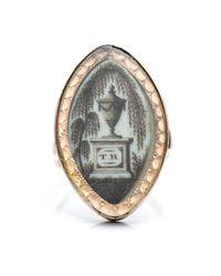 Alexis Bittar - Metallic 1800S Mourning Ring - Lyst