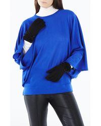 BCBGMAXAZRIA - Black Beaded Fringe Gloves - Lyst