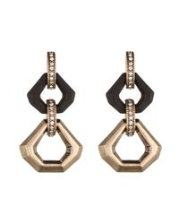 Lulu Frost | Black Narcissus Drop Earring | Lyst
