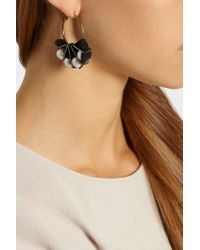 Lanvin | Black Gold-Tone Faux Pearl Earrings | Lyst