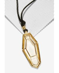 Nasty Gal - Metallic Kaira Pendant Necklace - Lyst