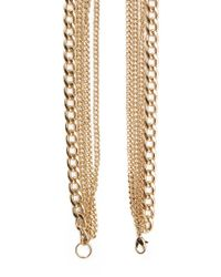 Forever 21 | Metallic Long Knotted Necklace | Lyst