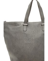 Forever 21 - Gray Pebbled Faux Leather Tote - Lyst