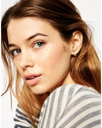 ASOS | Metallic Gold Plated Sterling Silver Heart Swing Earrings | Lyst