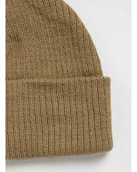 TOPMAN - Brown Camel Mini Roll Beanie Hat for Men - Lyst
