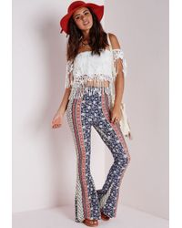 Missguided - Bardot Crochet Tassel Top White - Lyst