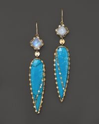Lana Jewelry - Blue Bliss Spike Earrings - Lyst
