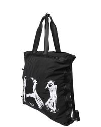 Y-3 - Black Yohji Self Portrait Nylon Tote Bag for Men - Lyst